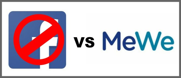 Facebook-VS-MeWe-Logo